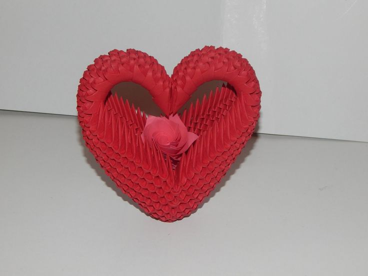 how to make a 3d origami heart step by step
