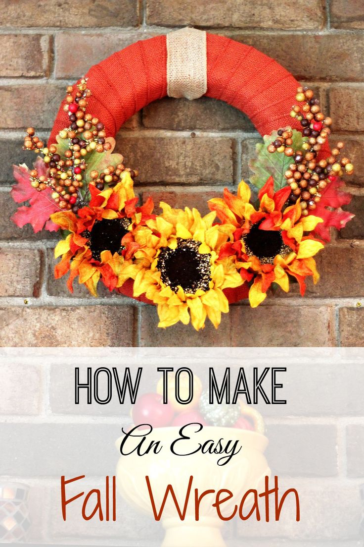 25+ Best Ideas About Easy Fall Wreaths On Pinterest