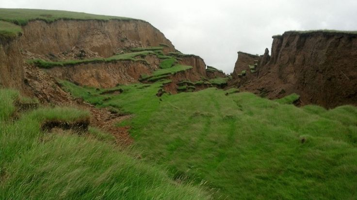 It's a 20m gorge filled with greenery and vegetation. But it never existed before.