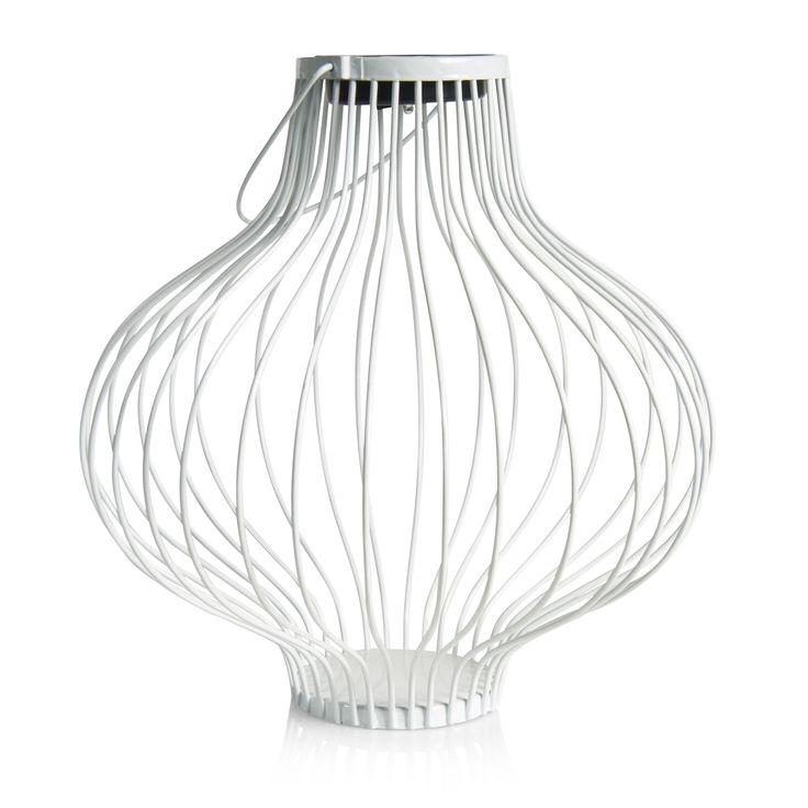 Blooma Asteria White Metal Ribbon Solar Powered LED Lantern | Departments |  DIY at Bu0026Q