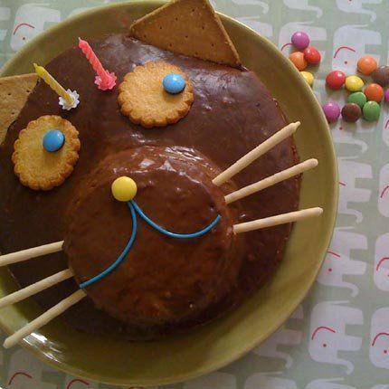 gâteau chat, gâteau chocolat, gâteau enfants, happy boutique, happyboutique.com