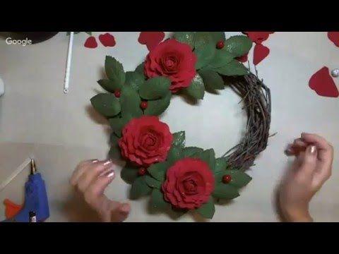 9 ый день конференции «Новогодние чудеса»Ольга Апалькова рожд венок из фома - YouTube