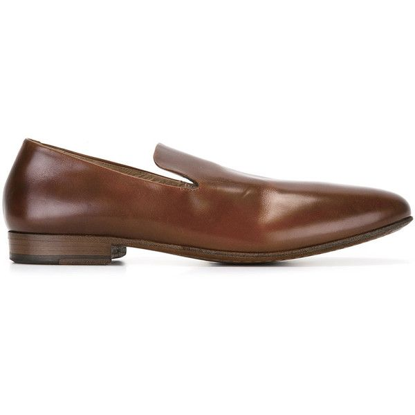 Marsèll Classic Loafers ($412) ❤ liked on Polyvore featuring men's fashion, men's shoes, men's loafers, marsell mens shoes, mens leather loafer shoes, mens brown leather shoes, mens brown loafer shoes and mens loafer shoes