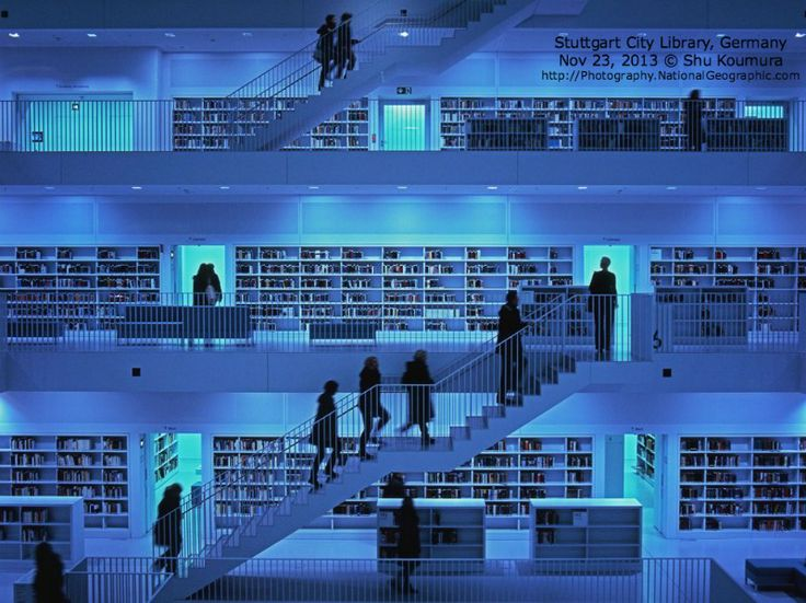City library picture architecture photo national for Stuttgart architecture
