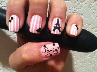Paris Nails!! Super cute!