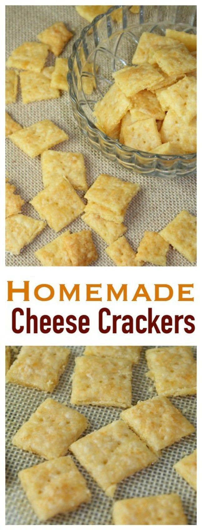 Homemade Cheese Crackers are SO easy and so delicious! You won't be able to stop eating these!