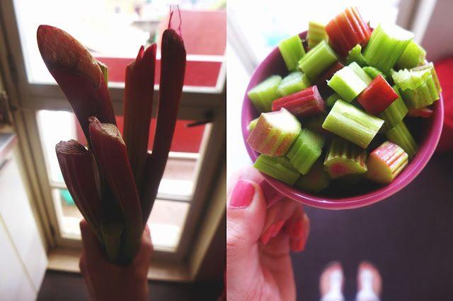 Rhubarb and plum jam
