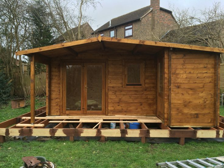 My man cave...long way to go until it's finished Cabin from Skinners Sheds Base built with lots of help and guidance from a good friend.  Interior and decking still to come.