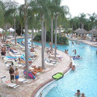 Clothing Optional Main Pool Area At Caliente Adult Resort Florida Caliente Club Resorts