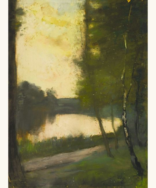 'Märkisch Lake in the Evening, 1890s - Lesser Ury (1861–1931):