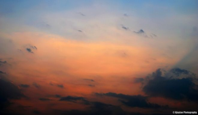 Dull sky at dusk - Ajaytao