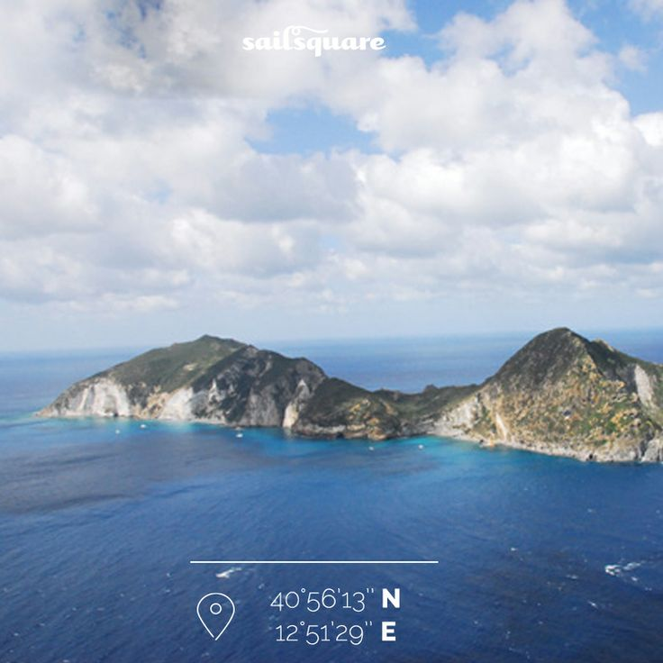 Palmarola: a little more than 1 square km, it's a national park. Its bay are beatiful!  #Palmarola www.sailsquare.com