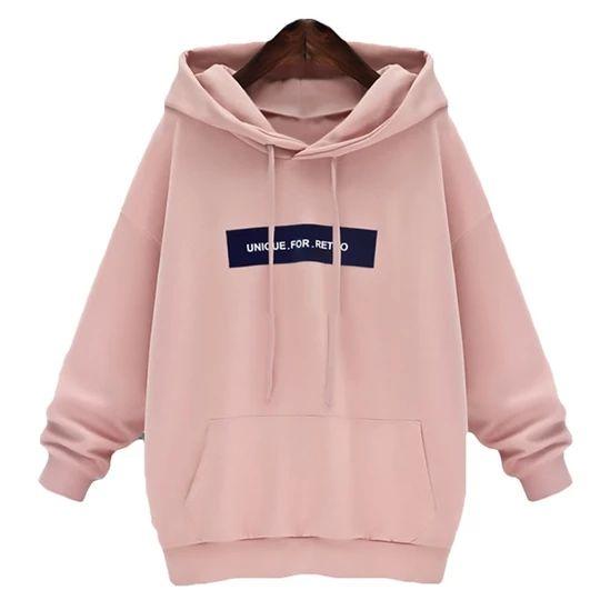 Sweatshirts Female Hoodie Pink & Gray Plus Size Sweatshirt Hoodies Women Long Sleeves Hoody For Women Thicken Hooded Sweatshirt