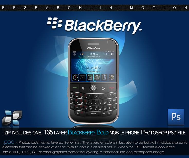 RIM Blackberry PSD by `DigitalPhenom on deviantART