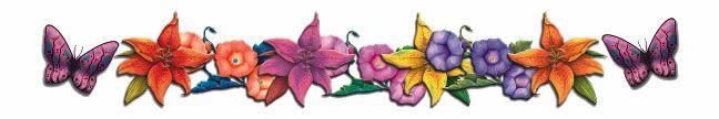 Floral Butterflies Armband Tattoo
