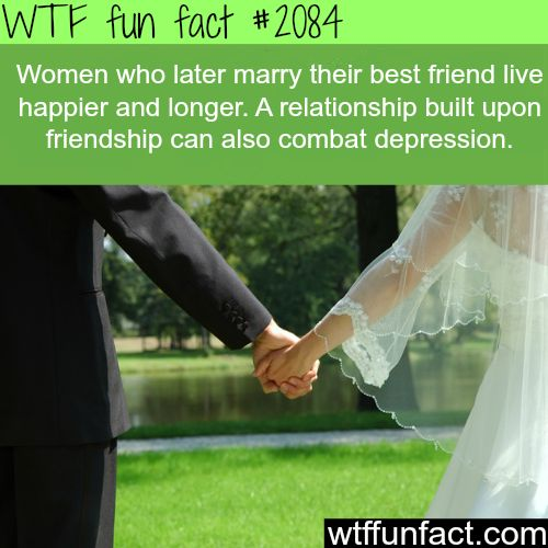 Women who marry their best friend live happier – WTF fun facts