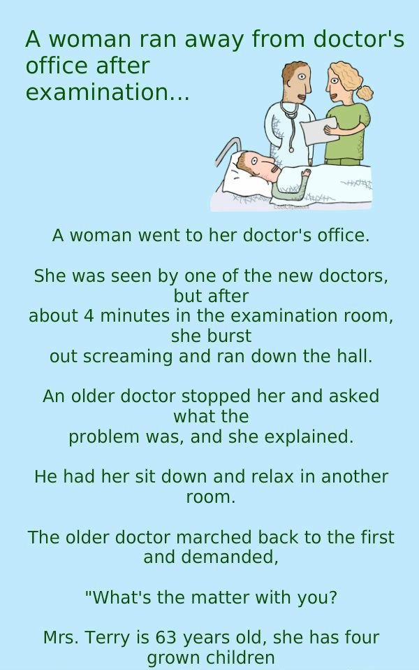 A Women Ran Away from A Doctors Examination Room – Funny