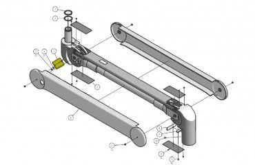 Cover Kit, Back Joint Cover, OndaSpace, RAL 9002