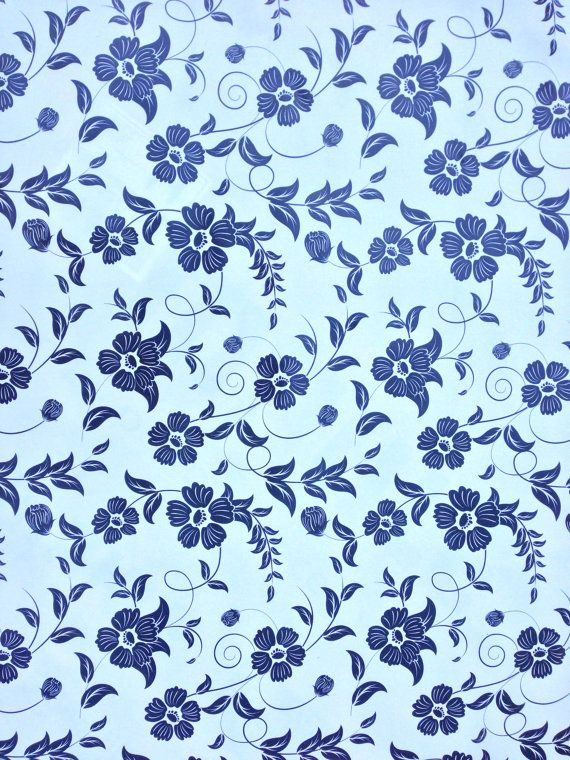 Black and White Floral Flower Print PVC Kitchen by TheFabricShopUK, £7.50