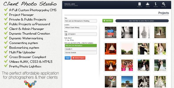 Client Photo Studio - Photography CMS