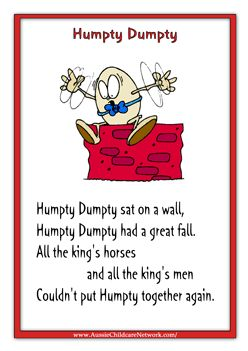 Nursery Rhyme printables...and much more.  Great site for PreK or K!