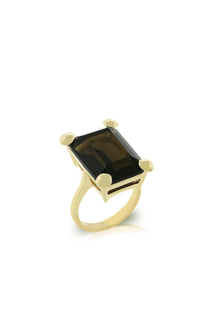 This 18k gold plated smokey topaz color solitaire cocktail ring has been polished with a lustrous goldtone finish.      Stone size:  carat weight 11 (ct). Smokey Topaz Ring by Wild Lilies Jewelry . Accessories - Jewelry - Rings Pennsylvania