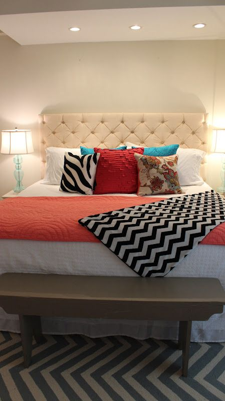 16 DIY Headboard Projects • Tons of Ideas and Tutorials! Including this diy tufted headboard project from 'the knuths'.