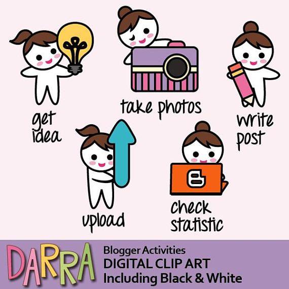 Blogger clipart blogging clip art social media planner icon