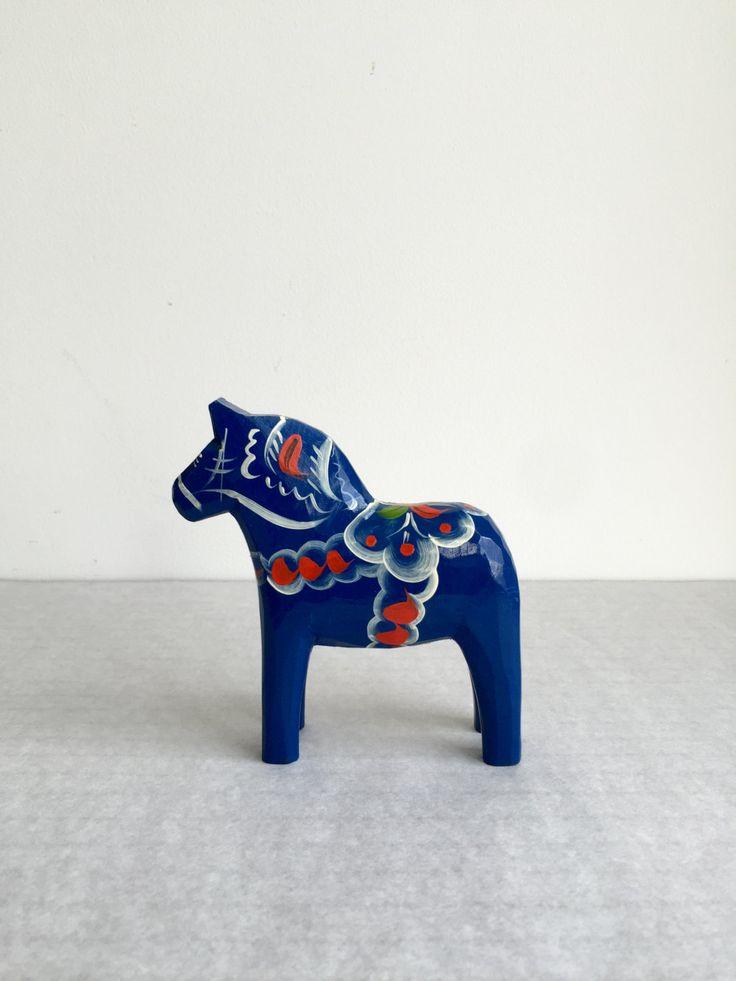 Vintage Dalapferd aus Schweden, Rotes Dalapferd, Original Dalarna Pferd, Mid century Design, Skandinavisches Design, Vintage Kunsthandwerk von moovi auf Etsy