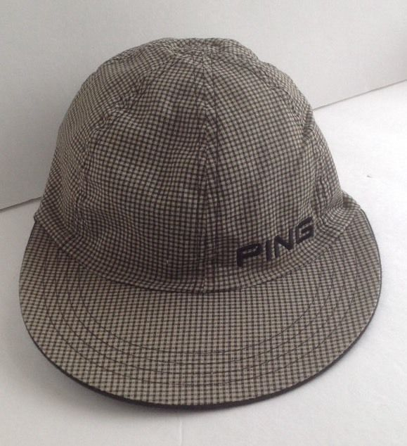 PING Golf Sports Hat Cap Plaid Black Reversible SMALL #Ping #Cap