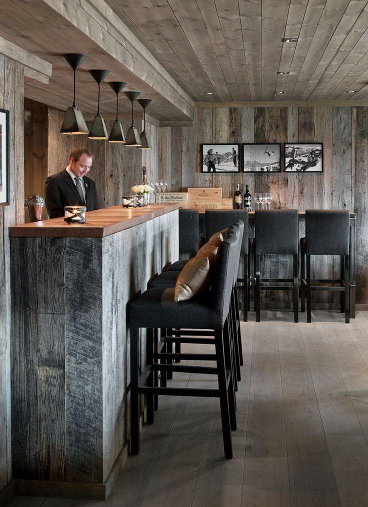 vinkjelleren vinbar in geilo, norway, designed by norwegian elin fossland