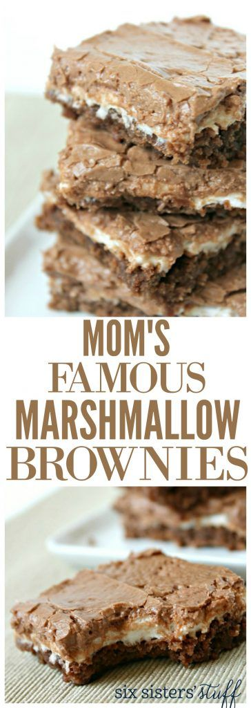 Mom's Famous Marshmallow Brownies on SixSistersStuff.com