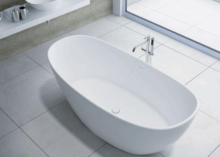 Maria 1630mm Stone Freestanding Bath - ABL Tile & Bathroom Centre