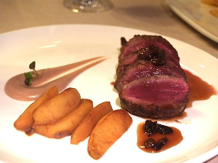 Solomillo de ciervo, Restaurante España, Lugo.