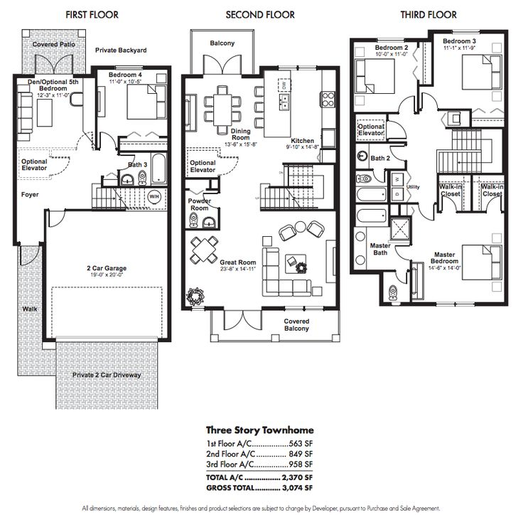 Best 25 condo floor plans ideas on pinterest 2 bedroom Luxury townhomes floor plans
