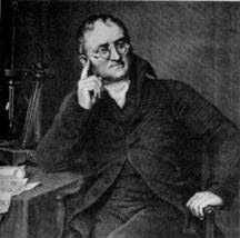 John Dalton- He proposed the Atomic Theory in 1803 which stated that (1) all matter was composed of small indivisible particles termed atoms, (2) atoms of a given element possess unique characteristics and weight, and (3) three types of atoms exist: simple (elements), compound (simple molecules), and complex (complex molecules). Dalton's theory was presented in New System of Chemical Philosophy (1808-1827). This work identified chemical elements as a specific type of atom