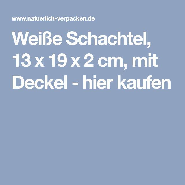 Weiße Schachtel, 13 x 19 x 2 cm, mit Deckel - hier kaufen