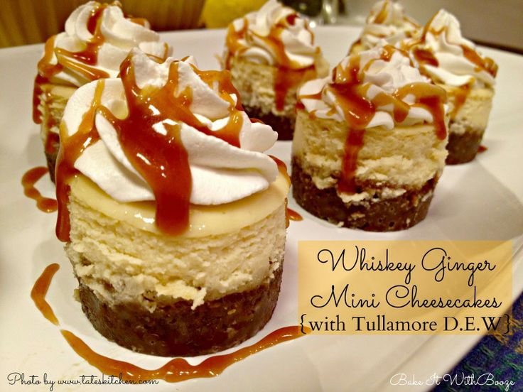 #NationalCheesecakeDay - Bake It With Booze!: Whiskey Ginger Mini Cheesecakes {with Tullamore D.E.W.}
