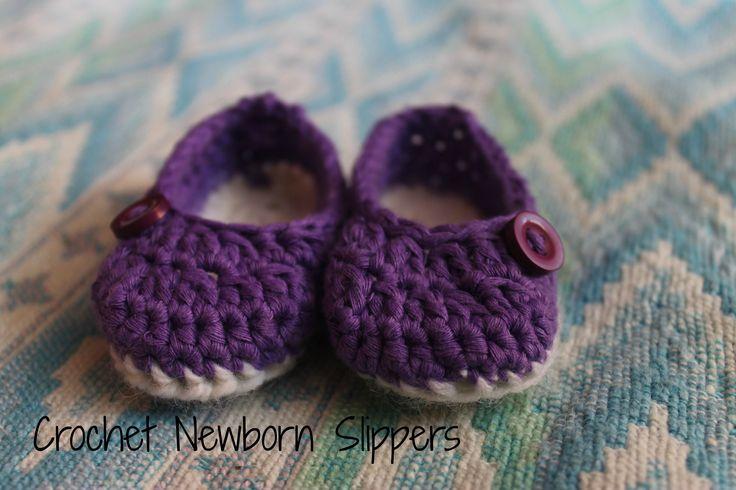 Crochet Newborn Slippers.   I used a pattern from  http://jaysboutiqueblog.blogspot.com/
