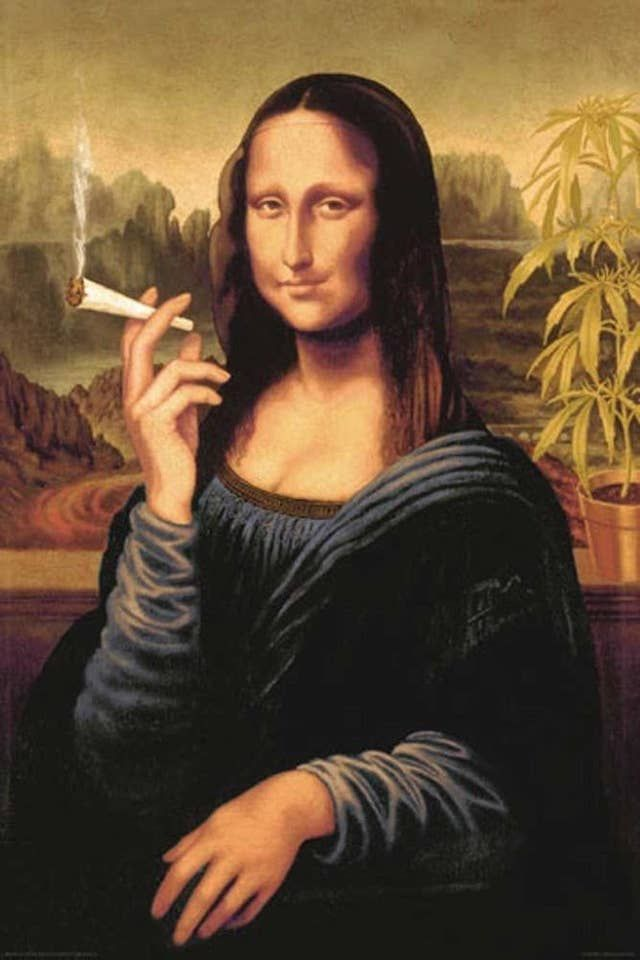 19 Chill Gifts For The Stoner Type Mona Lisa Mona Lisa Parody Poster Prints