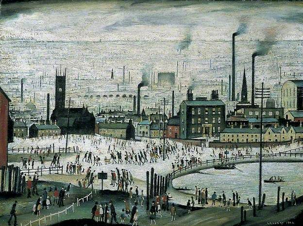 L. S. Lowry - An Industrial Town - 1944