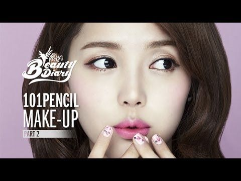 Pony's Beauty Diary - Play 101 Pencil Makeup (로맨틱/음영/뱀파이어 메이크업).  pony unnie make up tutorial