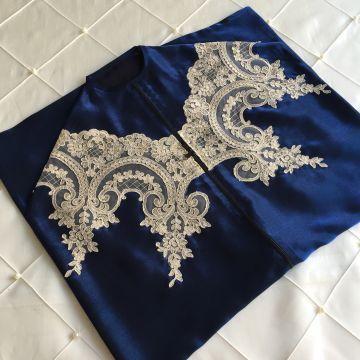 Ottoman Elbise Kılıfı   Gece Mavisi (Kısa Boy)