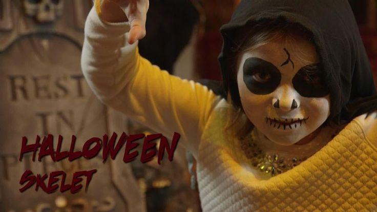 Video Kinderschmink: Halloween skelet Tutorial Children's make-up Halloween a skeleton