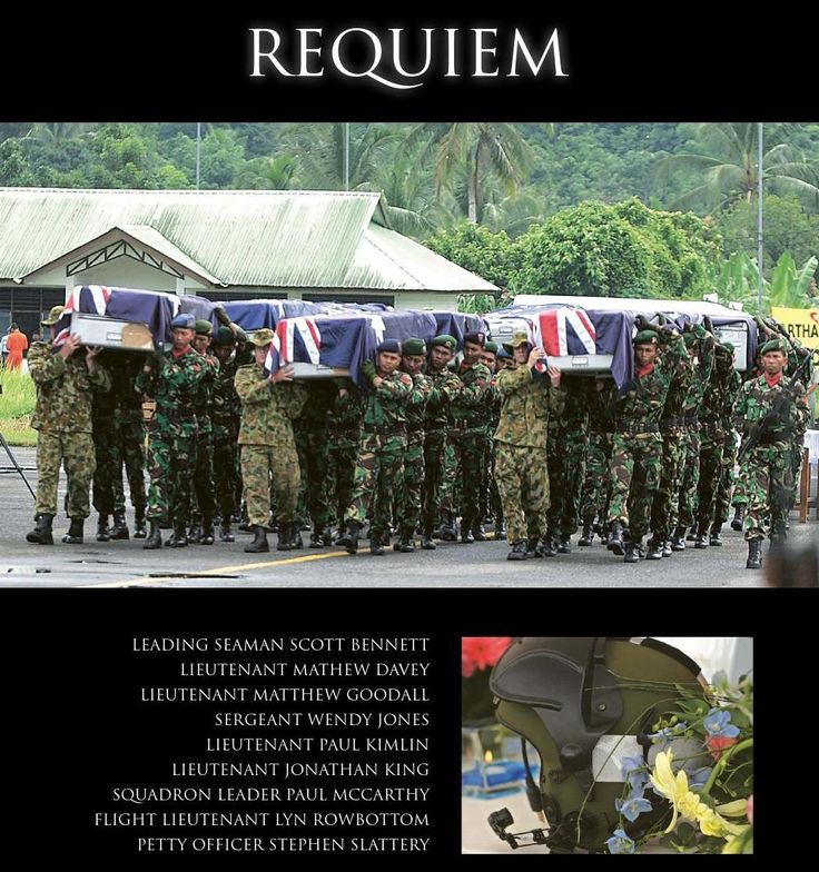 Helicopter crash kills nine in Indonesia on tsunami-relief mission. Published in issue #6, June 2005