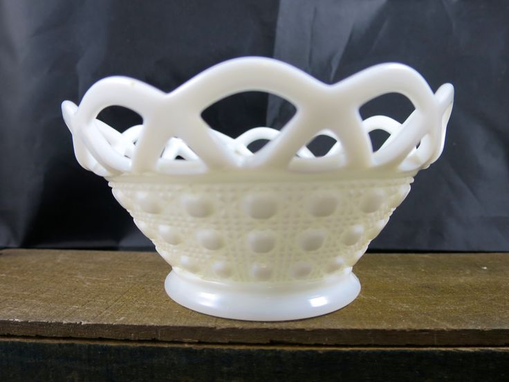 Vintage Milk Glass Candy Bowl Lace Edge Imperial Glass Co Serving Candy Bowl Fancy Doric Lace Pattern Collectible Mid Century Glass Bowl by BonniesVintageAttic on Etsy