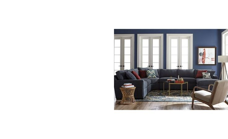 Radley 6-Piece Fabric Chaise Sectional Sofa: Custom Colors - Sectional Sofas - Furniture - Macy's