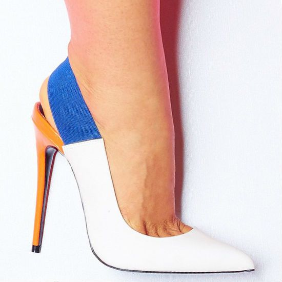 Lust For Life Multi Color Slingback Heels Kolor