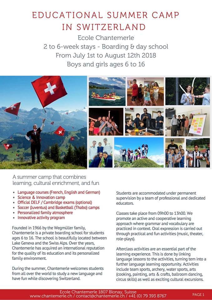 Summer Camp at Ecole Chantemerle! #swissboardingschools #bestboardingschoolsinSwitzerland #internationalboardingschools