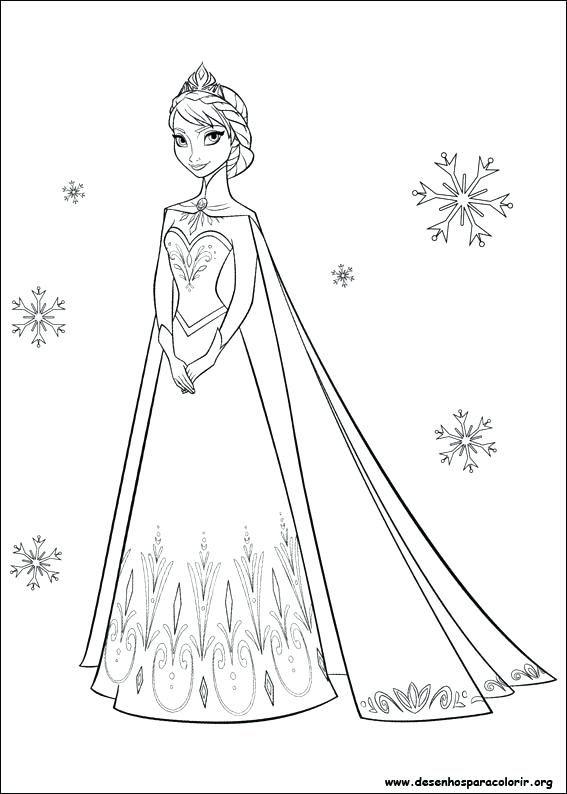 Colorir Desenhos Da Frozen Desenho Para Imprimir Desenhos Para